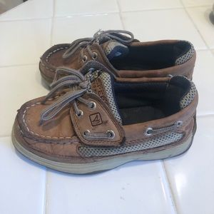 Sperry Velcro strap boat shoes 9toddler